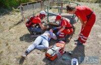 Красный Крест провел учения по отработке действий при взрыве в жилом доме