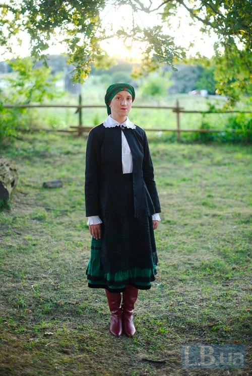 Редакторка відділу Культура Дарія Бадьйор у вбранні із шляхетських сіл