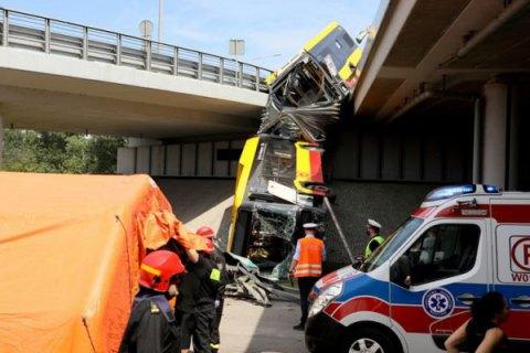 В Варшаве с моста упал автобус с пассажирами, есть погибшие и раненые