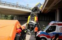 У Варшаві з моста впав автобус з пасажирами, є загиблі і поранені
