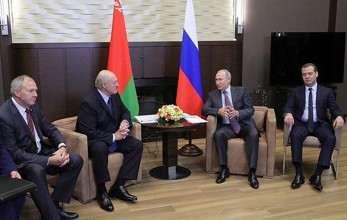 Во время переговоров делегаций Беларуси и России в резиденции Бочаров Ручей, Сочи, 21 сентября, 2018.