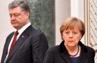 Порошенко и Меркель настаивают на освобождении всех заложников
