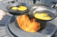 На Вечном огне снова жарили яичницу