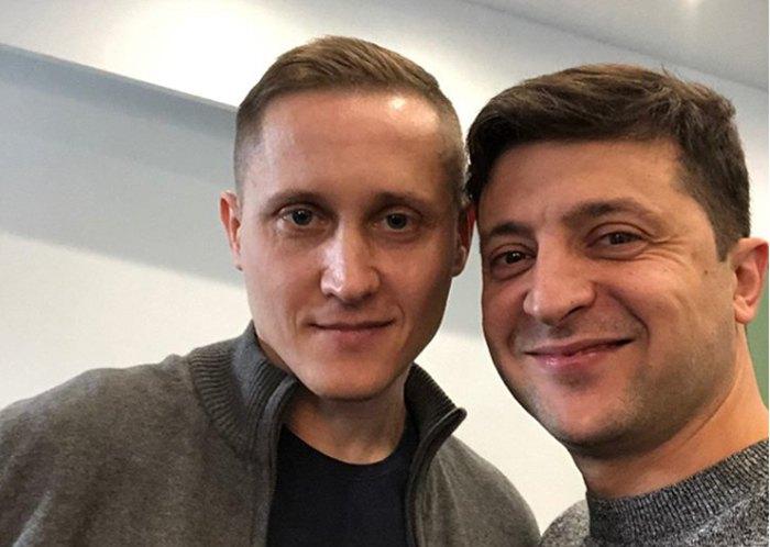 Володимир Зеленський та Михайло Крячко