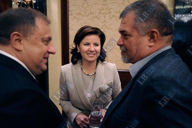 Василий Грицак, Марина Ставнийчук и экс-советник Юлии Тимошенко Александр Задорожный (справа)
