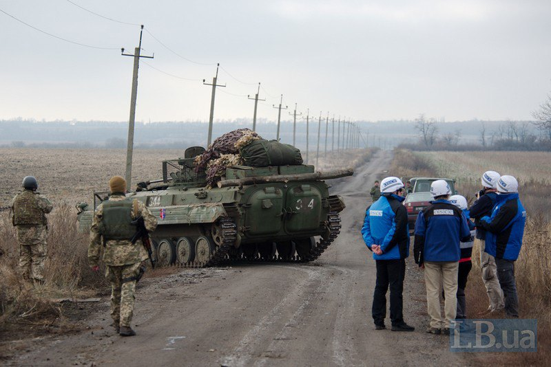 Отвод украинских войск в с.Петровское