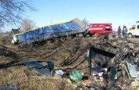 У Полтавській області вантажівка врізалася в маршрутку, загинули семеро людей