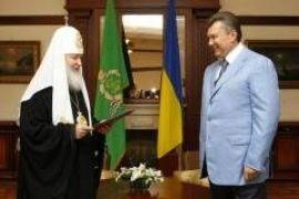 Патриарх наградил Януковича орденом РПЦ