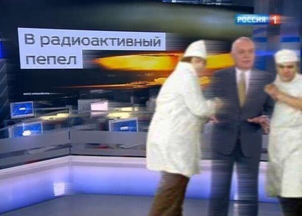 Колаж на тему передач Дмитра Кисельова, розповсюджений в соцмережах