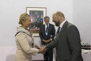 Тимошенко обсудила с Шульцом и Броком ратификацию СА