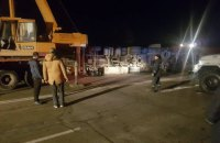 В Ровно перевернулся грузовик с 20 тоннами зерна