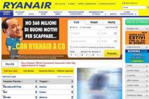 Авиакомпания Ryanair высмеяла в рекламе Сильвио Берлускони