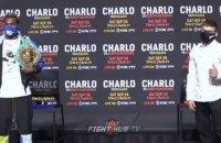 Дерев'янченко і Чарло провели дуель поглядів перед чемпіонським боєм