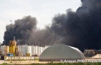 Загроза перекидання вогню з нафтобази на військову частину минула
