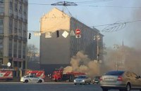 На Хрещатику сталася пожежа в колекторі з електричними кабелями