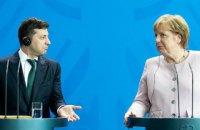 Зеленский скоординировал с Меркель усилия для установления мира на Донбассе (обновлено)
