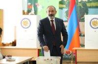 Партию Пашиняна объявили победителем выборов в Армении