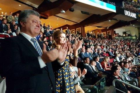 """Порошенко в Канаді взяв участь у церемонії відкриття """"Ігор Нескорених"""""""