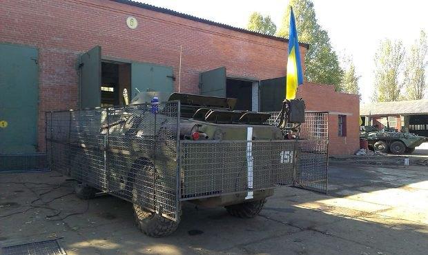 Защиту на БРДМ для 43 батальона устанавливали на передовой