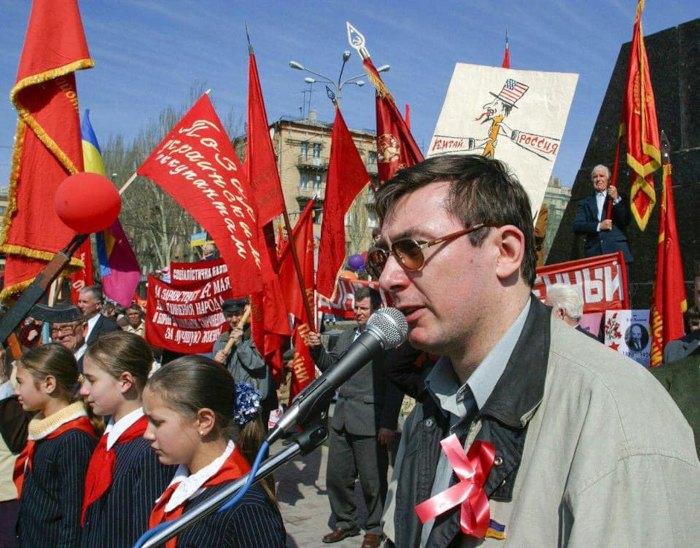 Юрій Луценко виступає на мітингу СПУ у Донецьку, 2004 рік