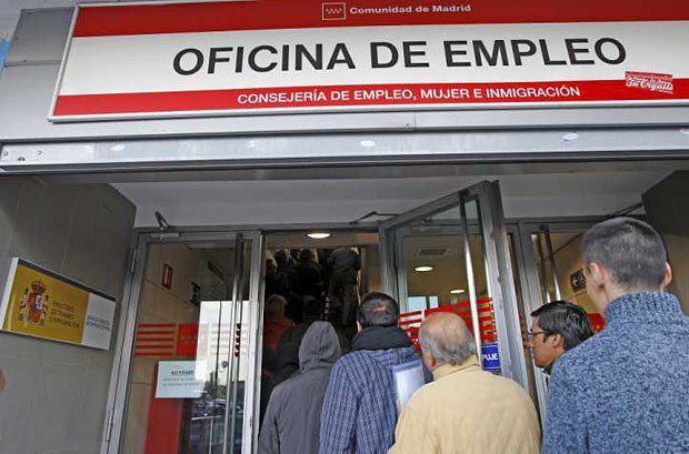 Испания. Очередь в бюро по трудоустройству