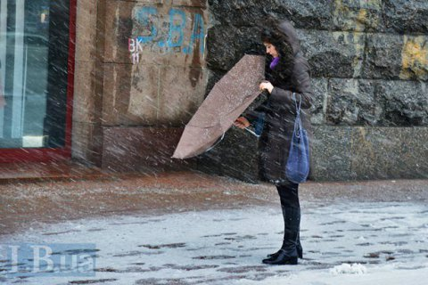 В субботу в Киеве обещают мокрый снег и +3 градуса