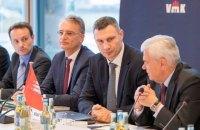 Кличко обсудил с немецкими министрами алгоритм достройки Подольско-Воскресенского моста