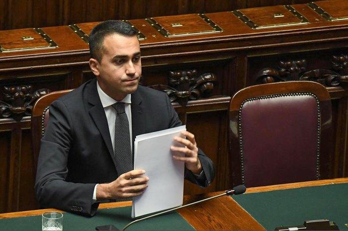 Міністр закордонних справ Італії Луїджі Ді Майо в парламенті, 15 жовтня 2019.