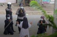 У М'янмі за минулу добу вбили 8 протестувальників, ще четверо померли за ґратами