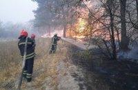 Из-за пожаров в Луганской области пострадали трое спасателей