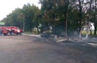 В Киевской области газовый модуль АЗС взорвался после удара автомобиля