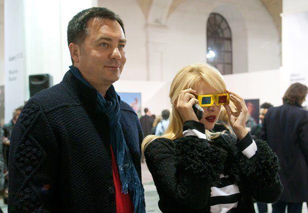 Основатель Voronov Art Foundation, бизнесмен Игорь Воронов и телеведущая Татьяна Рамус