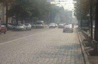 Харків теж оповитий димом