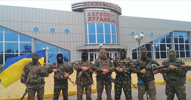 Бійці 80-ї ОАЕМБр перед Луганським аеропортом, 27 червня 2014.