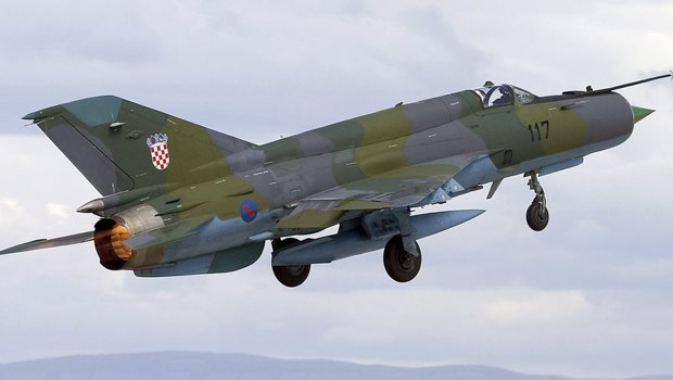 МиГ-21 ВВС Хорватии