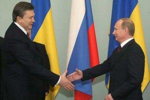 Янукович получил поздравление с Днем Независимости от Путина