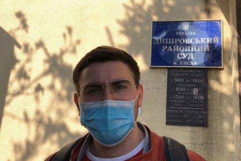 Киевлянин, который пытался вплавь попасть на спортплощадку в Гидропарке, рассказал, почему пошел на такой шаг