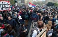 В Сербии к акциям против избрания Вучича президентом присоединились студенты и военные