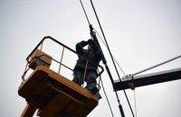 Сильний вітер призвів до знеструмлення 189 населених пунктів у семи областях