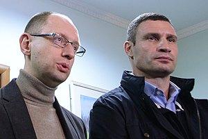 Яценюк видит кандидатом в мэры Киева Кличко или Порошенко