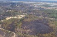 Геращенко показав фото і відео з місця пожежі в Чорнобильській зоні