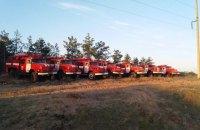 Пожарные продолжают бороться с лесным пожаром в Херсонской области