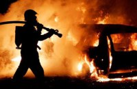 Ночью в Киеве сгорели три машины (обновлено)