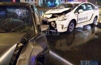 В Киеве на Троещине произошло ДТП с участием машины полиции