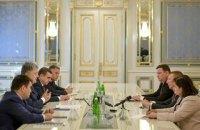 Порошенко и глава МИД Латвии обсудили размещение миротворцев ООН на Донбассе