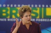 Президент Бразилии сравнила процедуру импичмента с попыткой переворота