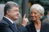 Порошенко планирует встретиться с директором МВФ Лагард в Давосе