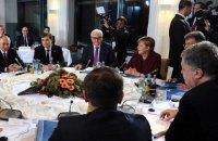 """Порошенко и Путин перед саммитом """"нормандской четверки"""" обошлись без рукопожатий"""