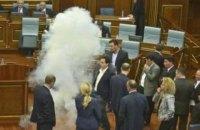 В здании парламента Косово депутаты распылили слезоточивый газ