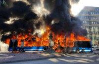 В Стокгольме на ходу взорвался городской автобус